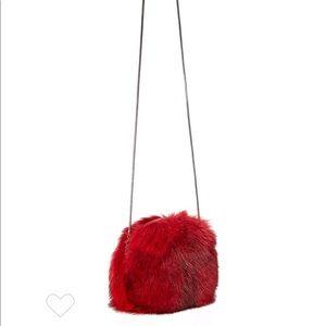 Diane Von Furstenberg Love Power Fur Puff Mini Bag